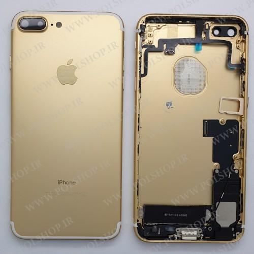 قاب ایفون  7  همراه با فلت ها ی داخلی و ویبراتور  رنگ طلایی HOUSTING IPHONE 7 7G  gold ORIGINAL