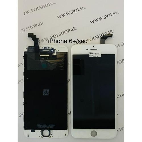 تاچ ال سی دی ایفون مدل: IPHONE 6 PLUS سفید (رو کاری)TOUCH+LCD IPHONE 6 PLUS SECOND HAND WHITE