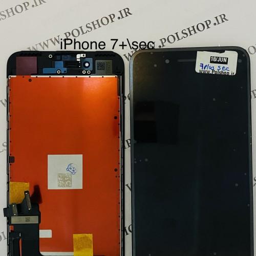 تاچ ال سی دی ایفون مدل: IPHONE 7 PLUS مشکی (رو کاری)TOUCH LCD IPHONE 7+ PLUS SECOND HAND BLACK