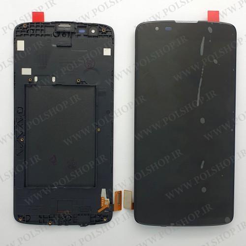 تاچ ال سی دی ال جی مدل: LG K8 2016 K350Z مشکی با فریمTOUCH LCD LG K8 2016 ORGINAL BLACK+FRAIM