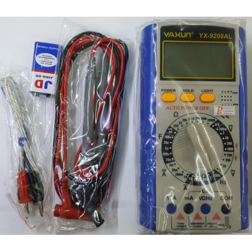 مولتی متر یاکسون مدل YX-9208ALMultimetro Yaxun YX-9208AL