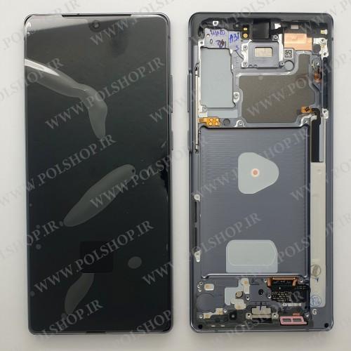تاچ و ال سی دی اصل شرکت سامسونگ  نوت 20 مشکی با فریم Touch+Lcd Samsung 100% Original NOTE20 N980 BLACK +FRAIM