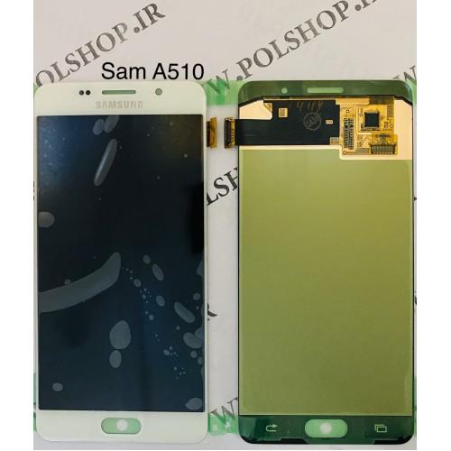 تاچ و ال سی دی اصل شرکت سامسونگ مدل  A5 2016 A510  سفید Touch+Lcd Samsung   A5 2016 A510 White 100% Original