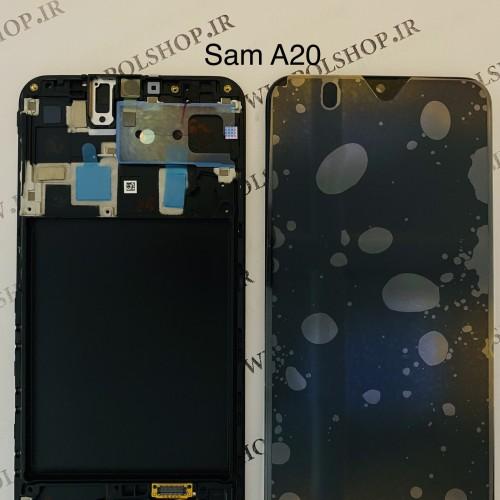تاچ و ال سی دی اصل شرکت سامسونگ مدل A205 A20 2019 مشکی با فریمTouch+Lcd Samsung 100% Original A205 (A20 2019  ) B +FRAIM